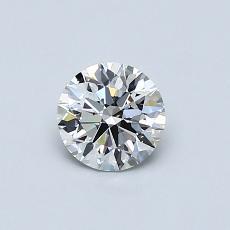 0.52-Carat Round Diamond Ideal F VVS1