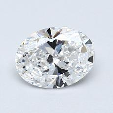 0,92-Carat Oval Diamond Very Good D VS2