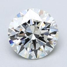 2.01-Carat Round Diamond Ideal I VS1