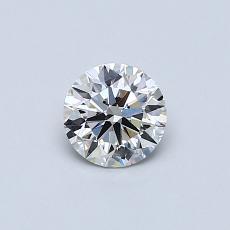 0.45-Carat Round Diamond Ideal H VS1