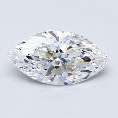 推荐宝石 1:1.30 克拉马眼形钻石