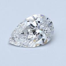 Piedra recomendada 1: Diamante en forma de pera de0.75 quilates