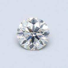 0.52 Carat 圆形 Diamond 理想 J SI2