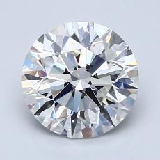 2.01-Carat Round Diamond Ideal F VS1