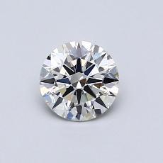 0.52 Carat 圆形 Diamond 理想 H VVS1