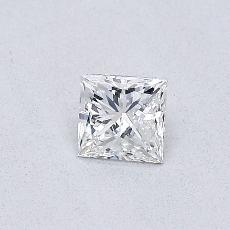 0.31-Carat Princess Diamond Very Good F VVS2