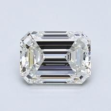 Piedra recomendada 2: Diamante de talla esmeralda de 1.02 quilates