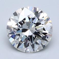 2.08-Carat Round Diamond Ideal G IF
