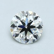 1.00-Carat Round Diamond Very Good I VVS1