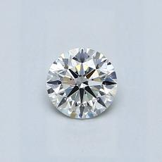 0.40-Carat Round Diamond Ideal H VS1