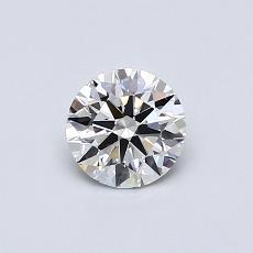 0,51-Carat Round Diamond Ideal H VVS2