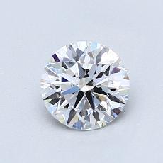 0,80 Carat Rond Diamond Idéale E VVS2