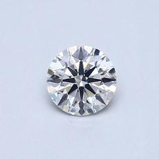 0,41-Carat Round Diamond Ideal E VS2