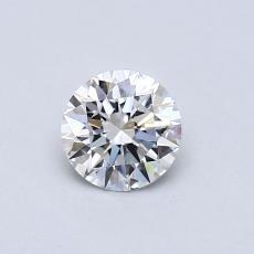 0.53-Carat Round Diamond Ideal F VVS1