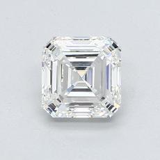 1,00-Carat Asscher Diamond Very Good H VVS2