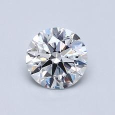 0.76 Carat 圆形 Diamond 理想 D VVS1