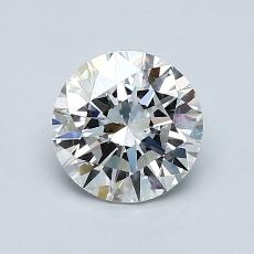 1.00-Carat Round Diamond Ideal E VS2