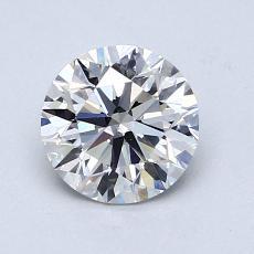 1.07-Carat Round Diamond Ideal H VS2