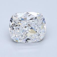 1.55-Carat Cushion Diamond Very Good D VVS2