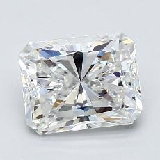 1.50-Carat Radiant Diamond Very Good F VVS2