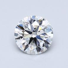 0.90-Carat Round Diamond Ideal E VS1