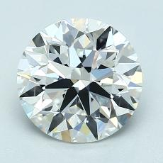 2.01-Carat Round Diamond Ideal E VVS2