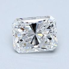 1.00-Carat Radiant Diamond Very Good E VVS1