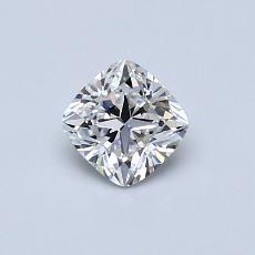0.50-Carat Cushion Diamond Very Good D VVS1