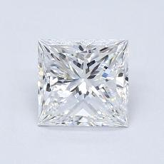 0,91-Carat Princess Diamond Very Good D VVS1