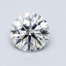 0,90 Carat Rond Diamond Idéale G VS1