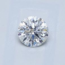 0,50 Carat Rond Diamond Idéale F SI2