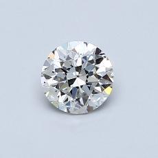 0,50-Carat Round Diamond Good F SI1