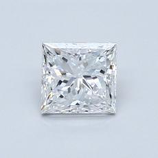 0,70 Carat Princesse Diamond Très bonne E VVS2