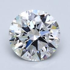 2.00-Carat Round Diamond Ideal F VVS2