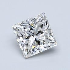1.04 Carat 公主方形 Diamond 非常好 E VS2