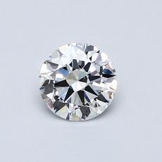 0.50 Carat 圓形 Diamond 理想 E VS2