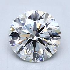 2,01 Carat Redondo Diamond Ideal G VVS1