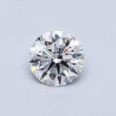 0.51 Carat 圆形 Diamond 理想 D VVS2