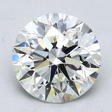 2.00-Carat Round Diamond Ideal I VVS1