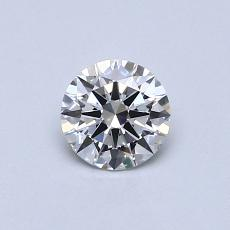 0.42-Carat Round Diamond Ideal G VVS2