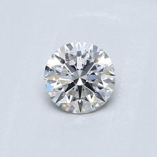 0.42-Carat Round Diamond Ideal F VS2