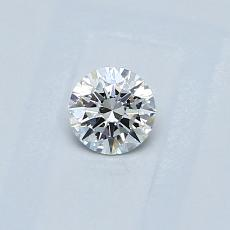 0,25-Carat Round Diamond Ideal F VS1