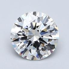 1.50-Carat Round Diamond Ideal D VVS2