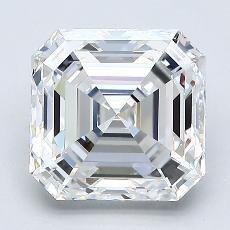 2.57 Carat Asscher Diamond Muy buena F VS1