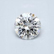 0.51 Carat 圆形 Diamond 理想 F VVS2