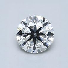 0,91 Carat Rond Diamond Bonne I SI2