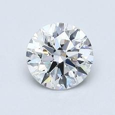 0,75 Carat Rond Diamond Idéale F IF