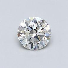 0.90-Carat Round Diamond Ideal H VS2