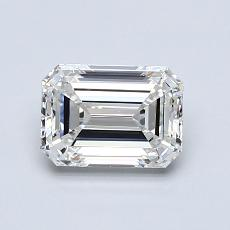 1.00-Carat Emerald Diamond Very Good H VS1