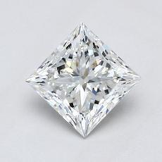 推荐宝石 3:0.90 克拉公主方型切割
